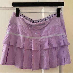 lululemon tennis skirt - lilac